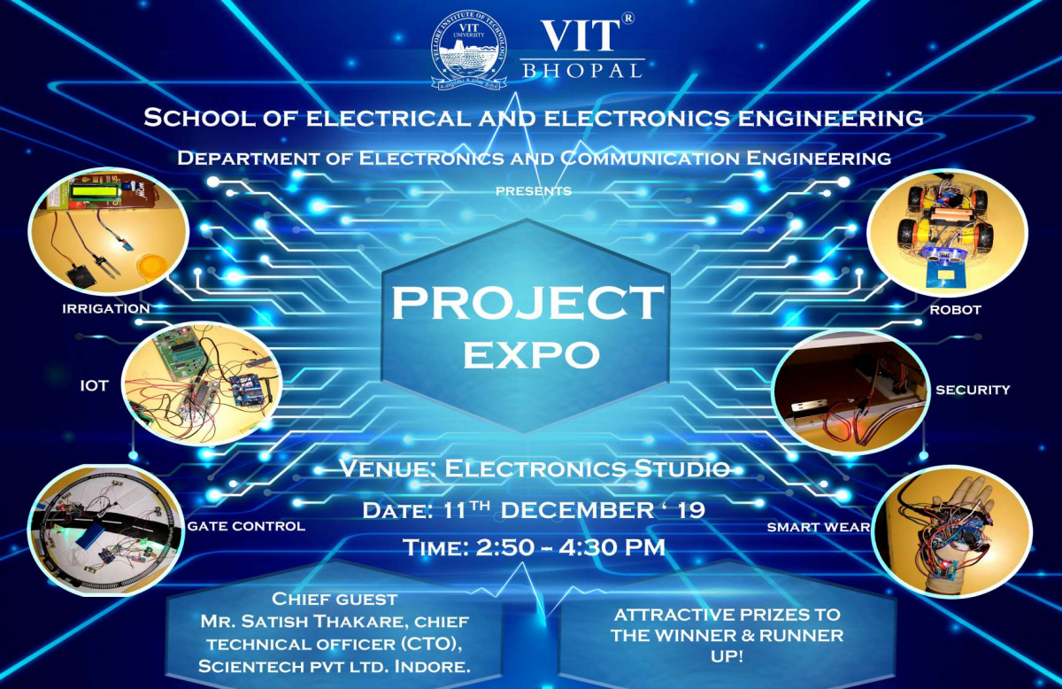 VIT Bhopal  - Best University in Central India -  Project_Expo_ECE-e1580794102563