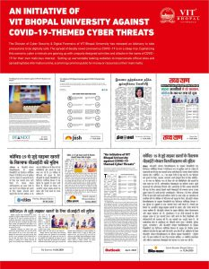 An initiative of VIT Bhopal University against COVID-19-themed Cyber VIT Bhopal  - Best University in Central India -  Covid-19-PR-2020-233x300