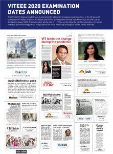 VITEEE 2020 Examination Dates Announced VIT Bhopal  - Best University in Central India -  VITEEE-PR-221x300