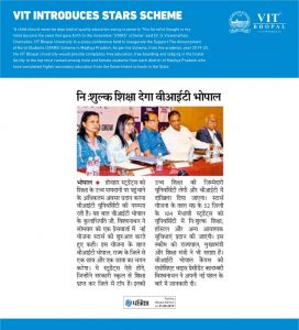 VIT introduces STARS Scheme VIT Bhopal  - Best University in Central India -  may-272x300