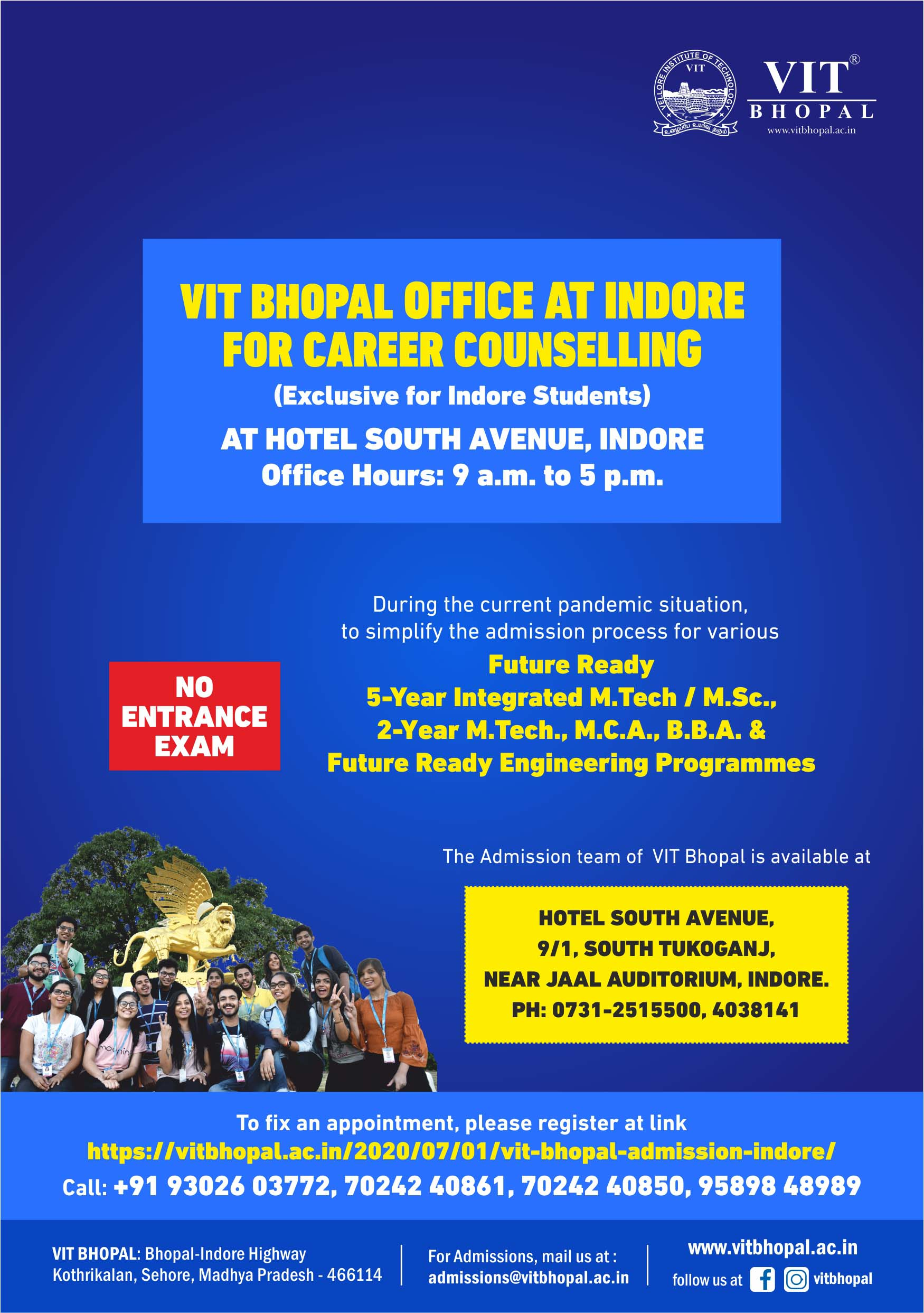 VIT Bhopal  - Best University in Central India -  Indore-office