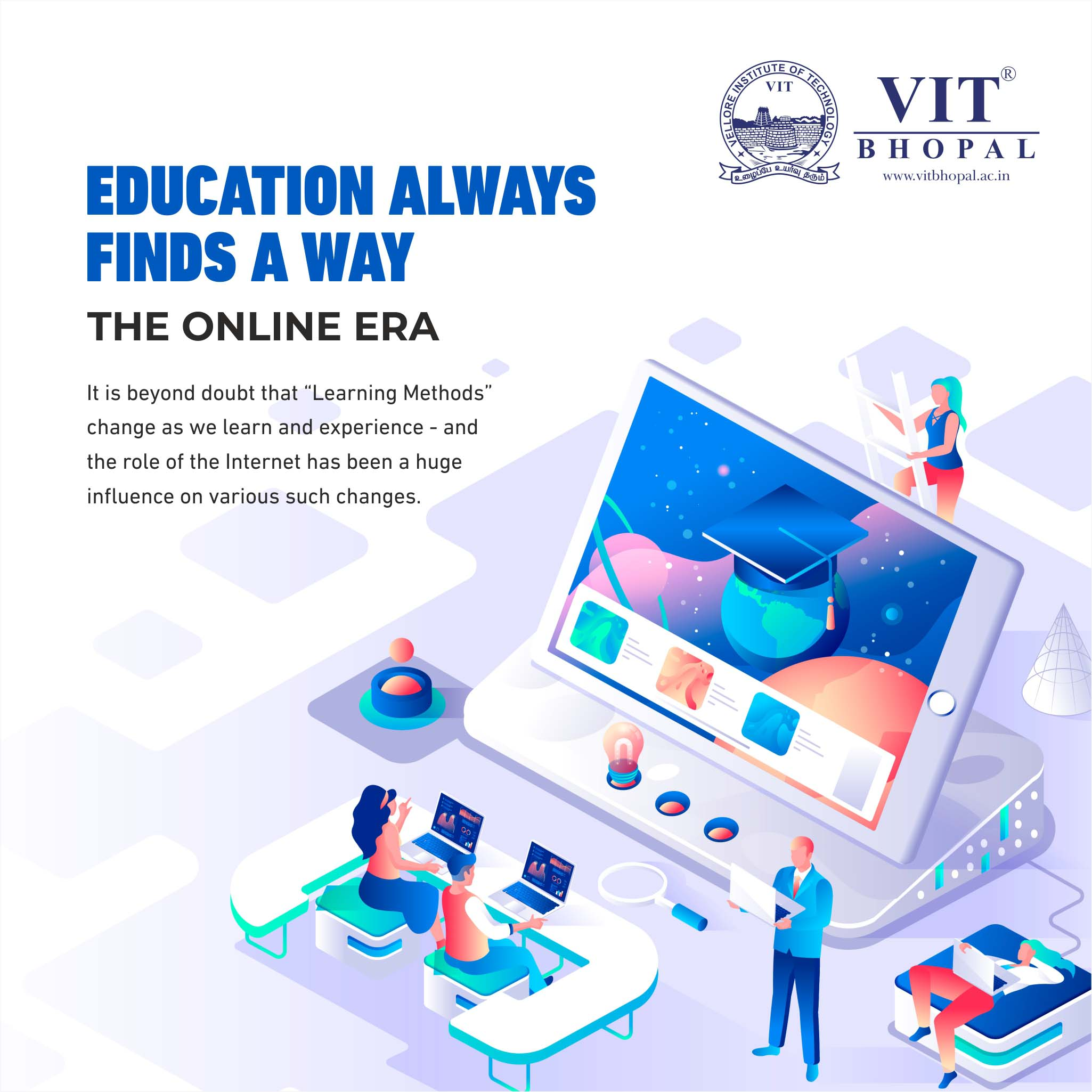 VIT Bhopal  - Best University in Central India -  Online-Classes-Blog