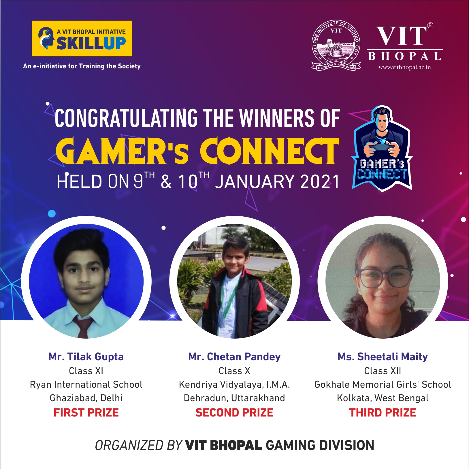 VIT Bhopal  - Best University in Central India -  Gamers-Connect-Winners