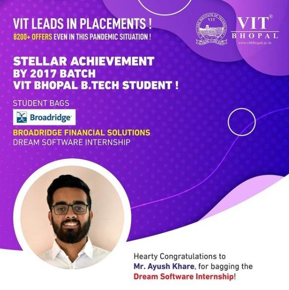 VIT Bhopal  - Best University in Central India -  Broadbridge-Dream