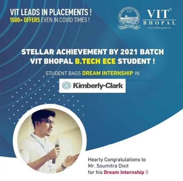 VIT Bhopal  - Best University in Central India -  Dream-Kimberlyclark