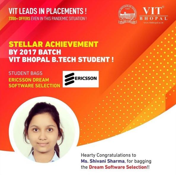 VIT Bhopal  - Best University in Central India -  Dream_Ericsson