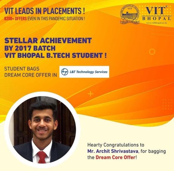VIT Bhopal  - Best University in Central India -  Dream_LTTS
