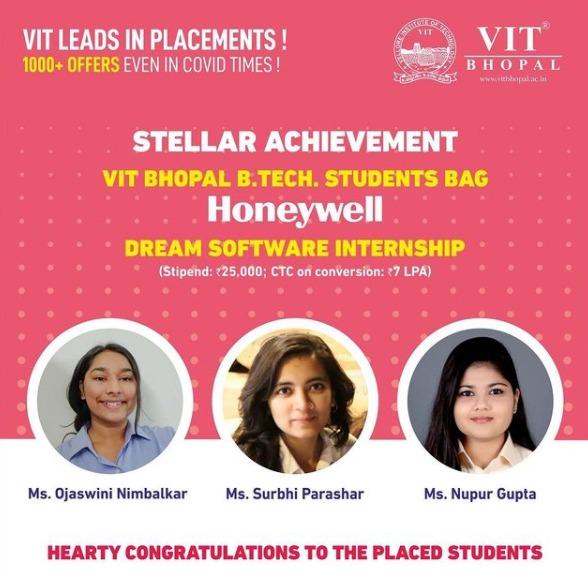 VIT Bhopal  - Best University in Central India -  Honeywell