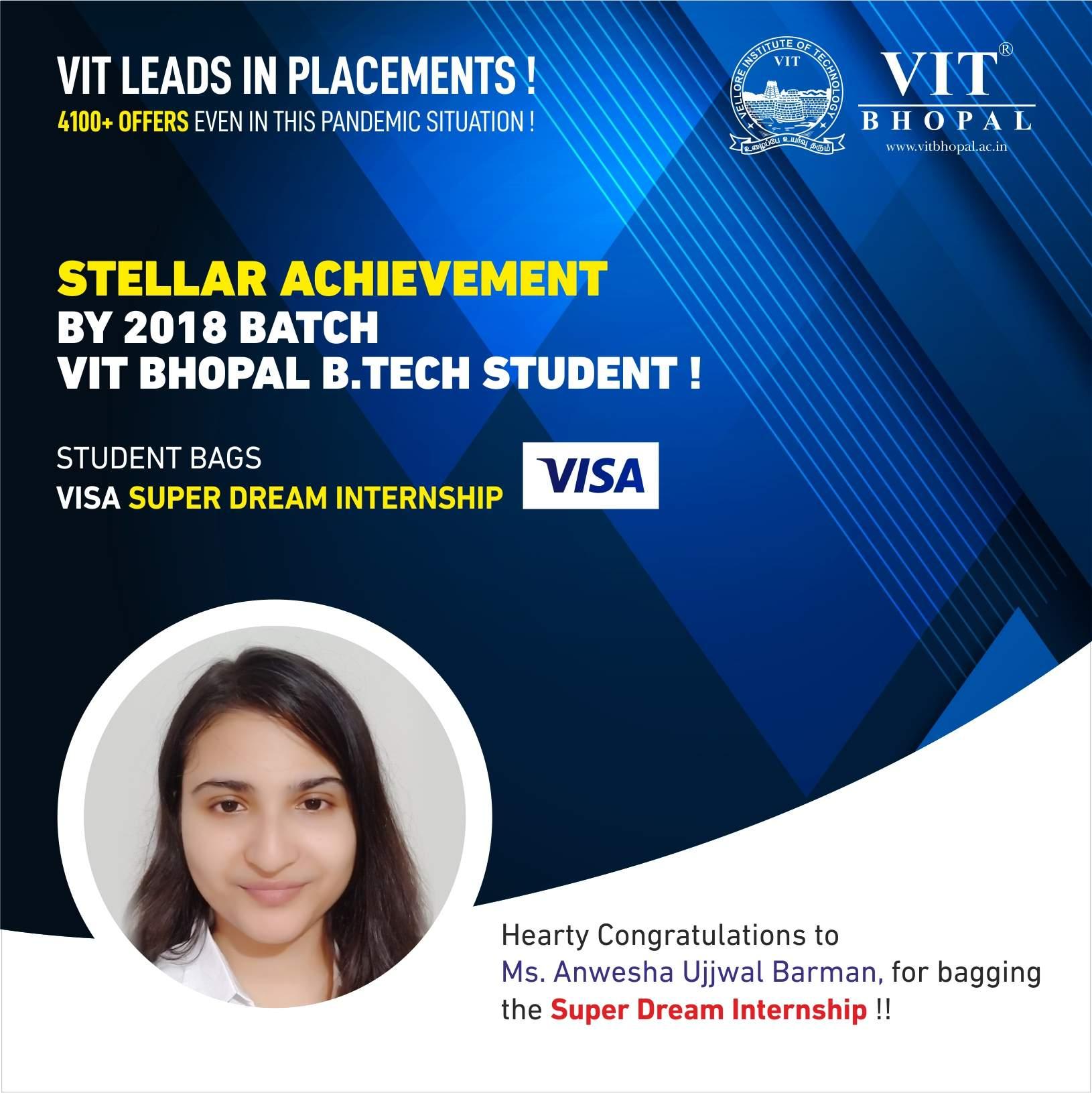 VIT Bhopal  - Best University in Central India -  Internship-Post-Anweshac
