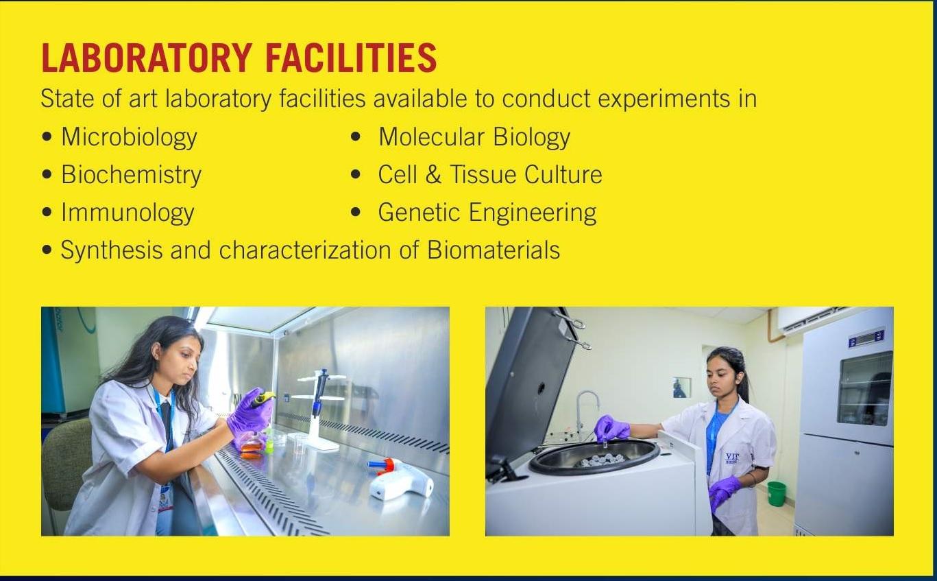 VIT Bhopal  - Best University in Central India -  biolab