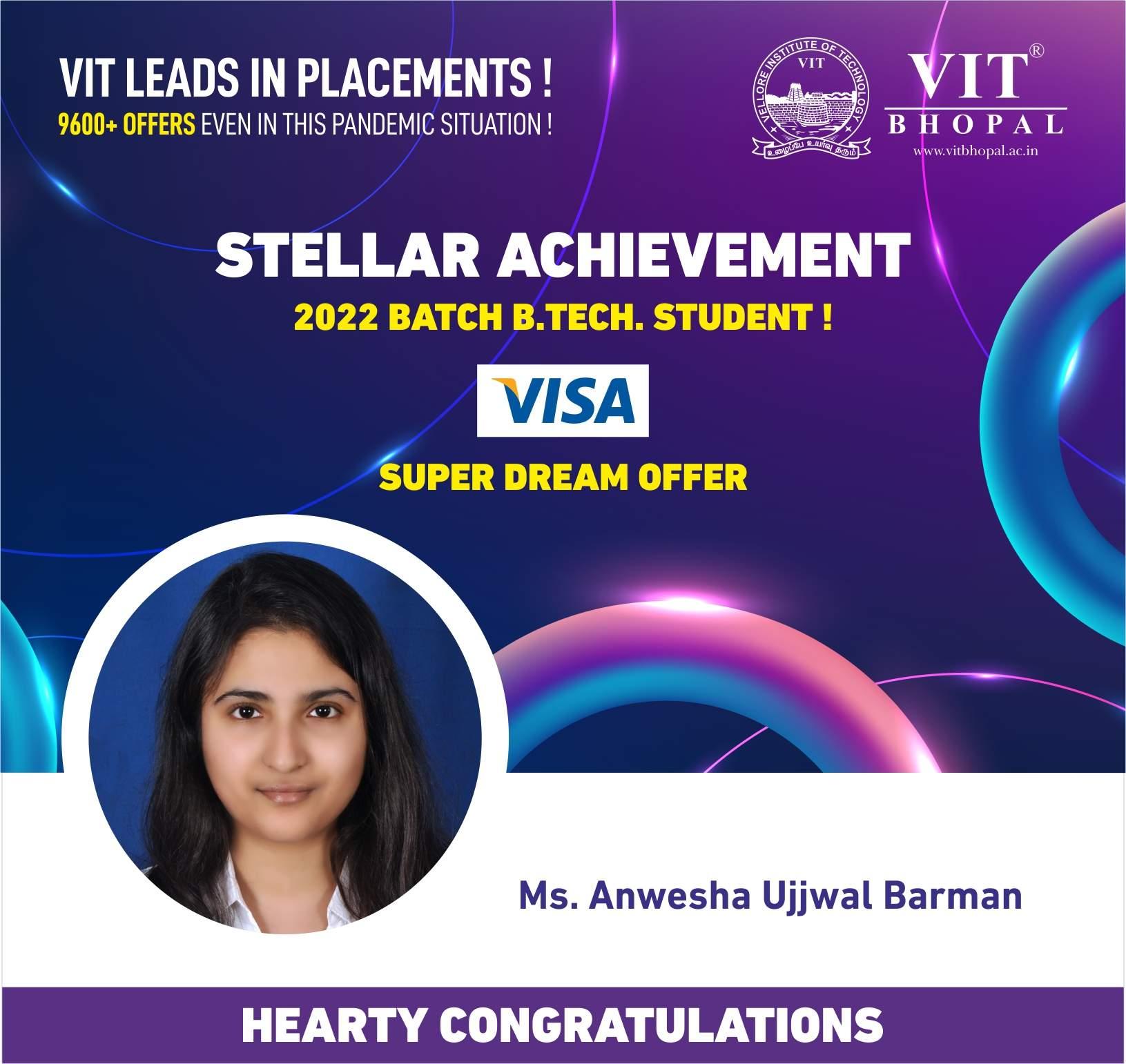 VIT Bhopal  - Best University in Central India -  visa