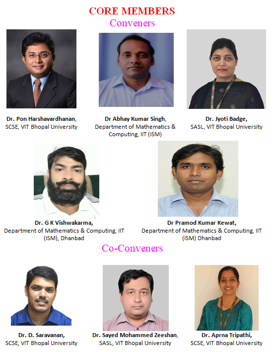 VIT Bhopal  - Best University in Central India -  Core-Members